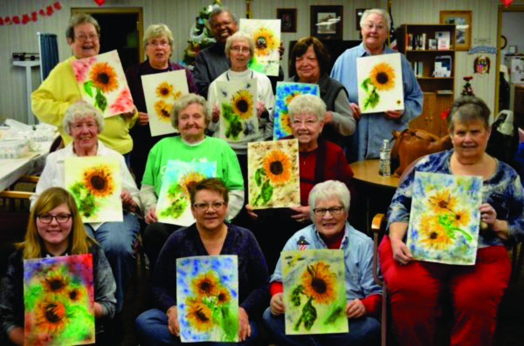 Brusho Sunflowers