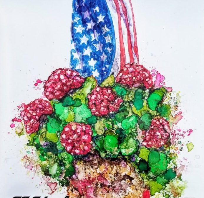Alcohol Ink and Brusho