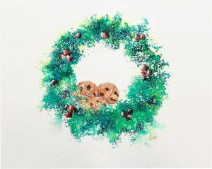 Brusho Holiday Wreath 8 X 10