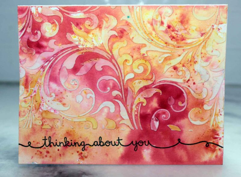 Brusho Greeting Card
