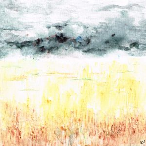 Brusho Paintings - Brooding Sky