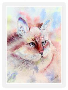 Momma Cat in Brusho
